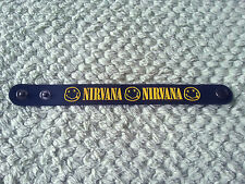 SILICONE RUBBER ROCK MUSIC FESTIVAL WRISTBAND/BRACELET:- NIRVANA (a)