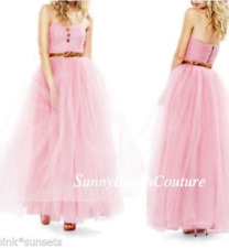 Betsey Johnson Pink Pow Poof Strapless Gown Dress Seen on Glee Prom $498 Size 6