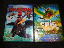 HOW TO TRAIN YOUR DRAGON 2 & EPIC  -  2 movies - Voices of BEYONCE,COLIN FARRELL