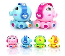 4 Color Plastic Cartoon Toys Clockwork Music Go Octopus Doodle Chain Rotating