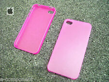 COVER CUSTODIA PER APPLE IPHONE 4 4S COLORE ROSA/ROSE/PINK TRASPARENTE