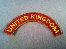 US Army Transportation Terminal Command United Kingdom Tab Cut Edge Patch 53D