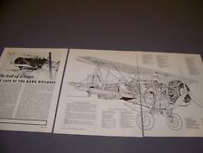 VINTAGE..CURTISS HAWK III ...CUTAWAY/3-VIEWS/SPECS..RARE! (108H)