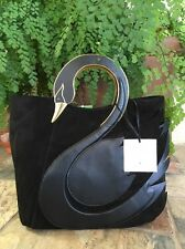 """SOLD OUT!!!! KATE SPADE NEW YORK """"ON POINTE SWAN HANDLE"""" BLACK BAG, NWT"""