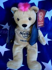 HRC Hard Rock Cafe Medellin Punk Bear Mohawk 2010 Pink Hair Herrington