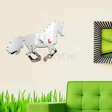 Fashion Horse Mirror Style Removable Decal Vinyl Art Wall Sticker Home Decor