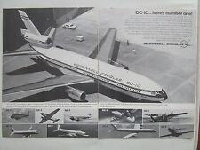 8/1970 PUB MCDONNELL DOUGLAS DC-10 AIRLINER DC-1 DC-2 DC-3 DC-7 DC-8 ORIGINAL AD