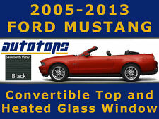 Mustang Convertible Top and Heated Glass Window Black Vinyl  Install Video 05-13