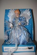 NEW Angel Lighted Fiber Optic Christmas Tree Topper Beautiful Blue Silver Decor