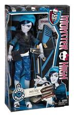 "Monster High Scare Mester Invisi Billy 11"" Doll Son Invisible Man Messenger Bag+"