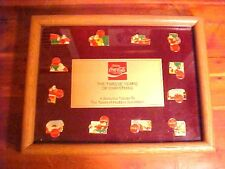 Coca Cola Twelve Years of Christmas Haddon Sundblom Framed Pin Collection Coke