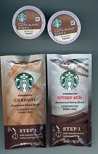 Starbucks Caffe Latte Sample Pack K-Cups & Flavor Packets