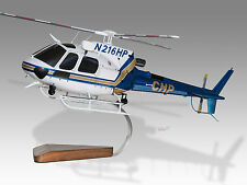 Eurocopter AS-350B-3 Ecureuil California Highway Patrol Wood Helicopter Model