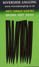 Anti Tangle Sleeves 54mm Brown Carp Fishing Tackle Terminal Rig End.