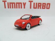 VW VOLKSWAGEN NEW BEETLE CONVERTIBLE IN RED GREAT DETAIL MINT