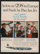 1960 PAN AMERICAN Airlines - PAN AM - Captain  Pilot - Jet - Airplane VINTAGE AD