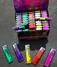 SLIDE LITE ** 5 Colors** ELECTRONIC LIGHTERS- LOT OF 50 - REFILLABLE