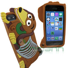 Custodia silicone BASSOTTO per Apple iPhone 5 5S cover case morbida dachshund