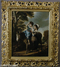 Early 19th Century European Oil Painting of Young Girl on Pony