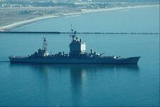 795028 Uss Long Beach CGN 9 energía nuclear Cruiser dejando Bahía de San Diego A4 PHO