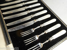 Mother of Pearl  Silver Plate canteen of Dessert cutlery   ,  ref1/ry1361