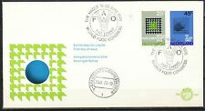 FDC E-107 WORLD FOOD CONGRESS F.A.O. THE HAGUE 16-30.JUNE.1970 FIAT PANIS  On442