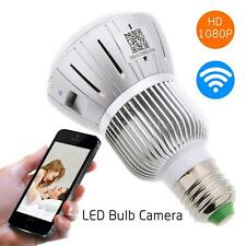 HD 720P Bulb CCTV Hidden Camera DVR Lamp Security IR Camera Motion Detect