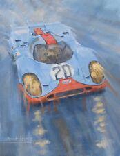 Porsche 917 Gulf Le Mans 24hr Race Motor Sport Racing Classic Car Art Print
