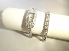 Couture Watch by Adrienne Crystal Band with matching tennis bracelet NEW