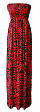 New Womens Boobtube Sheering Bandeau Long Strapless Jersey Maxi Dress Plus Sizes