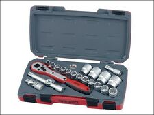 "Teng Tools T1221 1/2"" Metric 21pc Bi-Hex 12 Point Socket Set 10mm - 32mm Ratchet"