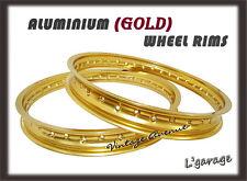 *YAMAHA IT125 G/H 1980-1981 '80-'81 ALUMINIUM (GOLD ) FRONT + REAR WHEEL RIM