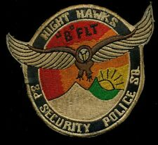 "USAF 3rd Security Police Squadron ""B"" Flight Night Hawks Patch S-21"