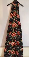Alice + Olivia Black Embroidered Gown Cocktail Dress New Size 2