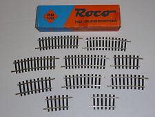 Roco ho modelo vía 2,5 mm vía falleció compensación raíles 10 piezas curvadas
