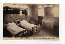 SS ILE DE FRANCE INTERIOR PC Postcard FRENCH Ocean Liner CGT Ship LUXE CABIN