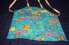 Handmade girls,boys,teal Cookie Monster  cotton blend med  child apron