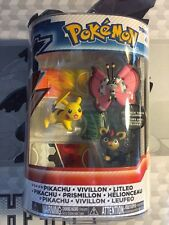 Mega Pokemon Figure 3 Pack Tomy Pikachu Vivillon Litleo NEW Hard To Find