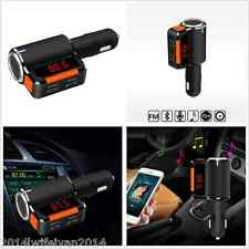 12V Car Kit Wireless Bluetooth FM Transmitter MP3 Player Hands Free & 2 USB Port