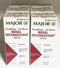 Nasal Decongestant Spray 12 Hour Oxymetazoline HCL 0.05% 30ml Bottle 6 BOTTLES