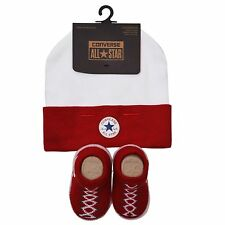 Converse Baby All Star Knit Booties And Hat 2 Piece Set Burgundy/Wine