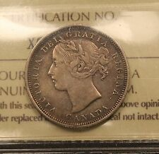 1858 Canada Silver 20 Cents ICCS VF-30 VF-EF One Year Type Coin
