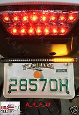 License Plate  Extra Rear Brake & Turn Signal LED Lighting All in one  USA