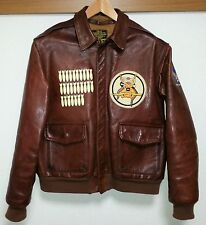 Aero Leather Jacket Paints Size 40  FLIGHT JACKET A-2 Horsehide Very Good!