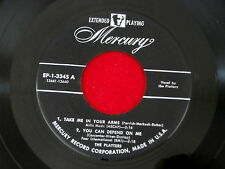 PLATTERS~ TAKE ME IN YOUR ARMS~YOU CAN DEPEND ON ME~TEMPTATION I ~EP~ DOO WOP 45