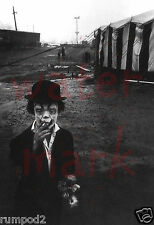 Circus clown poster/Weird scary/Big Top Tent /Smoking Clown/Black&White Photo