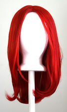 17'' Long Straight No Bangs Scarlet Red Cosplay Wig NEW