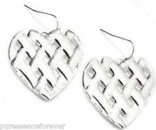 AVON HEART-SHAPED WOVEN EARRINGS (New/Boxed)