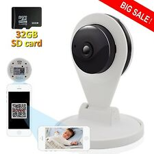 720P HD Wireless Security Camera with 32G SD Card Network Webcam IR Night Vision