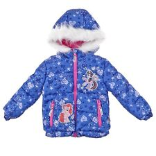 NWT My Little Pony Toddler Girls Blue Winter Puffer Jacket/Coat Fur Hood Size 2T